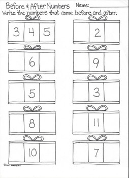 Wintertime Math Worksheets for Kindergarten Fun
