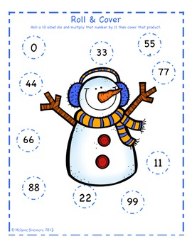 Wintertime Multiplication Roll and Cover