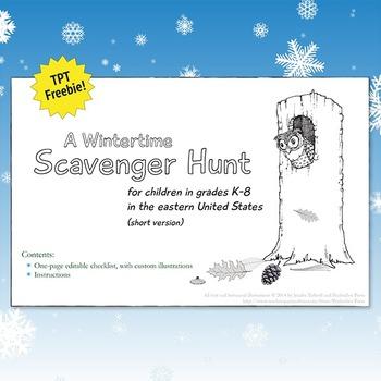 Wintertime Scavenger Hunt FREEBIE