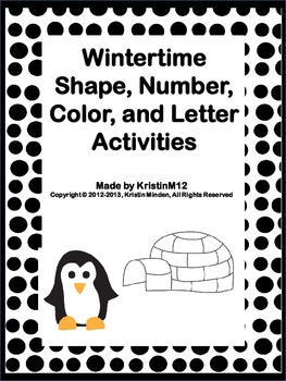 Wintertime Shape, Number, Color, and Letter Activities