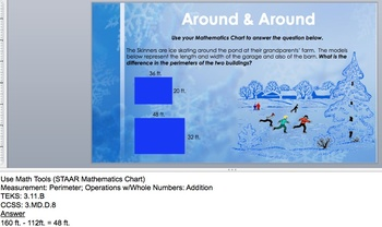 Wintertime WtW: 3rd-Grade Measurement Story Problems for STAAR® & Common Core