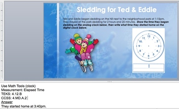 Wintertime WtW: 4th-Grade Measurement Word Problems for STAAR® and Common Core