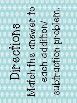Wintery Fraction Mix-Interactive Bulletin Board