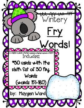 Wintery Fry Words!