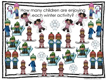 Wintery Fun Bar Graph and Pictograph Activity