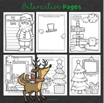 Winter Holiday Coloring Pages with a Twist
