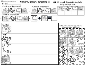 Wintery January Graphing with Common Core Standards and CCSS
