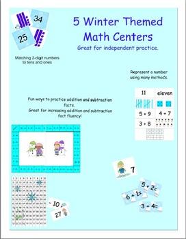 Wintery Math Centers
