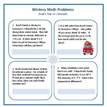 Wintery Math Problems