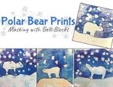 Wintery Polar Bear Prints with Gelli plates: An Art Lesson