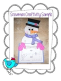 Wintery Snowman Craftivity