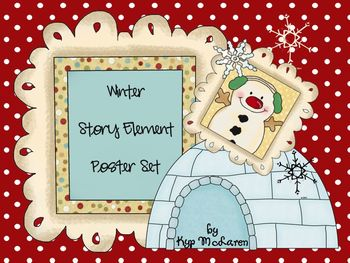 Wintery Story Elements Poster Set