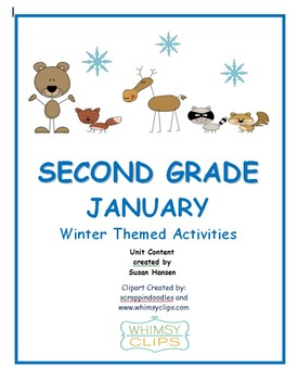 Second Grade January Common Core Activities