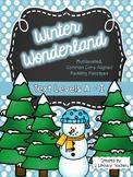 Winter Wonderland: CCSS Aligned Leveled Passages & Activities BUNDLE Levels A-I