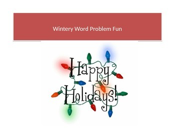 Wintery Word Problem Fun