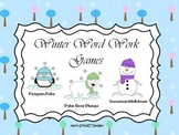 Wintery Word Work Game: Adding -ed and -ing