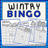 Winter Bingo Game for Cold Weather {Black Ink Version}