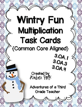Wintry Fun Multiplication Task Cards {Common Core}