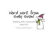 Wintry Long I Word Work