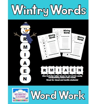 Winter Word Work Activities
