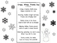 Winter seasonal Snowflake Imagery Poem and Activity