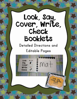 Wipe Off Look Say Cover Write Check Booklet Editable File