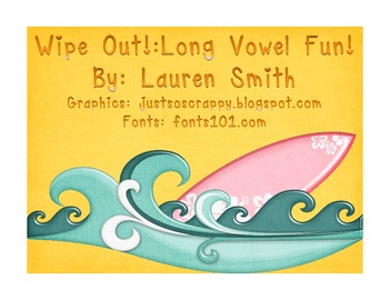 Wipe Out! 2 in 1 Long Vowel Games! 40 pages of word cards!
