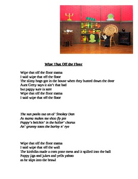 """""""Wipe That Off the Floor"""" A Silly Song/Story"""