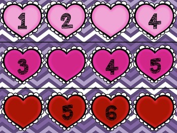 Wipe~N~Erase Hearts: Number Sequencing