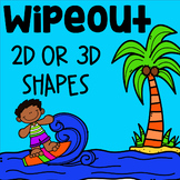 WipeOut Math Game - Identifying Shapes 2D or 3D - Geometry