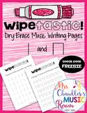 Wipetastic! Dry Erase Music Writing Pages Ta and Ti-Ti #mu