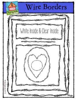 Wire Borders {P4 Clips Trioriginals Digital Clip Art}