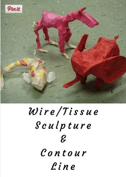 Wire/Tissue Sculpture and Contour Line