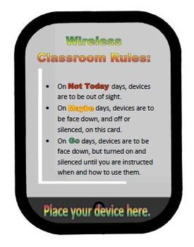 """Wireless Classroom """"Signal"""" system poster and placement set"""