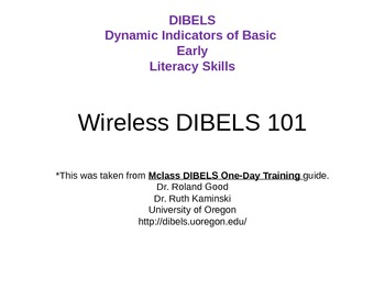 Wireless Dibels Training