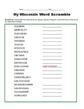 """Wisconsin #33 """"Ten to a Bundle"""" Activities"""