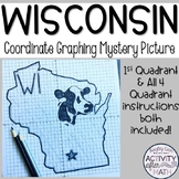 Wisconsin Coordinate Graphing Picture 1st Quadrant & ALL 4 Quadrants