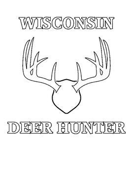 Wisconsin Deer Hunter Coloring Page