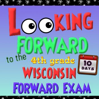 Wisconsin Forward Exam Prep - 10 Days of Review for 4th Grade MATH - NO PREP!