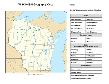 Wisconsin Geography Quiz