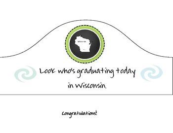 Wisconsin Graduation Hat