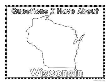 Wisconsin Graphic Organizers (Perfect for KWL charts and geography!)