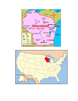 Wisconsin Map Scavenger Hunt