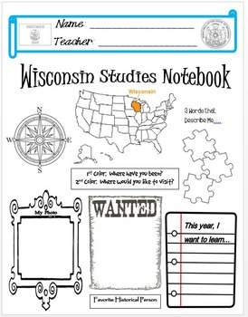 Wisconsin Notebook Cover