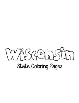 Wisconsin State Coloring Pages