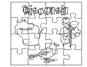 Wisconsin State Facts Puzzles