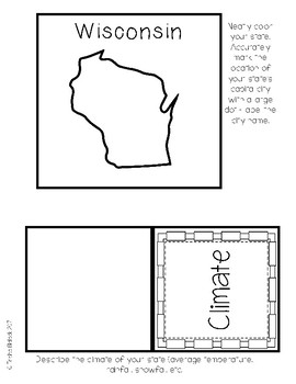 Wisconsin State Research Lapbook Interactive Project