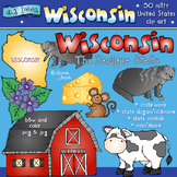 Wisconsin USA Clip Art Download
