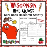 Wisconsin Webquest Research Mini-Book Activity