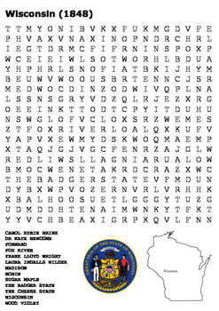 Wisconsin Word Search